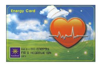 Scalar energy Energy card  Selling @ R100,00. 2000 negative IONs