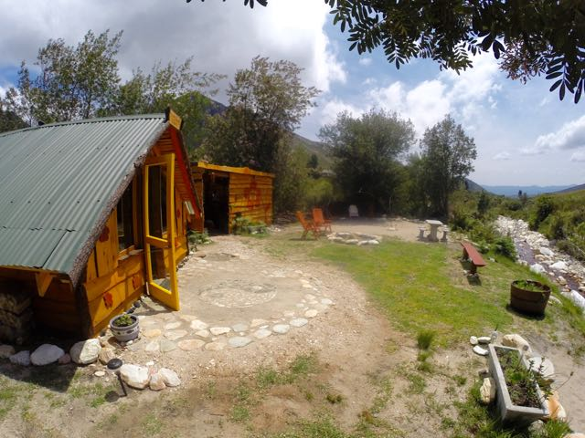 Cabin and kitchen/ablution unit on the river.
